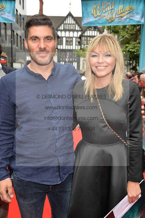 Kate Thornton and Mat Vincent arriving at The opening night of Wind in The Willows at the London Palladium, Argyll Street, London England. 29 June 2017.<br /> Photo by Dominic O'Neill/SilverHub 0203 174 1069 sales@silverhubmedia.com