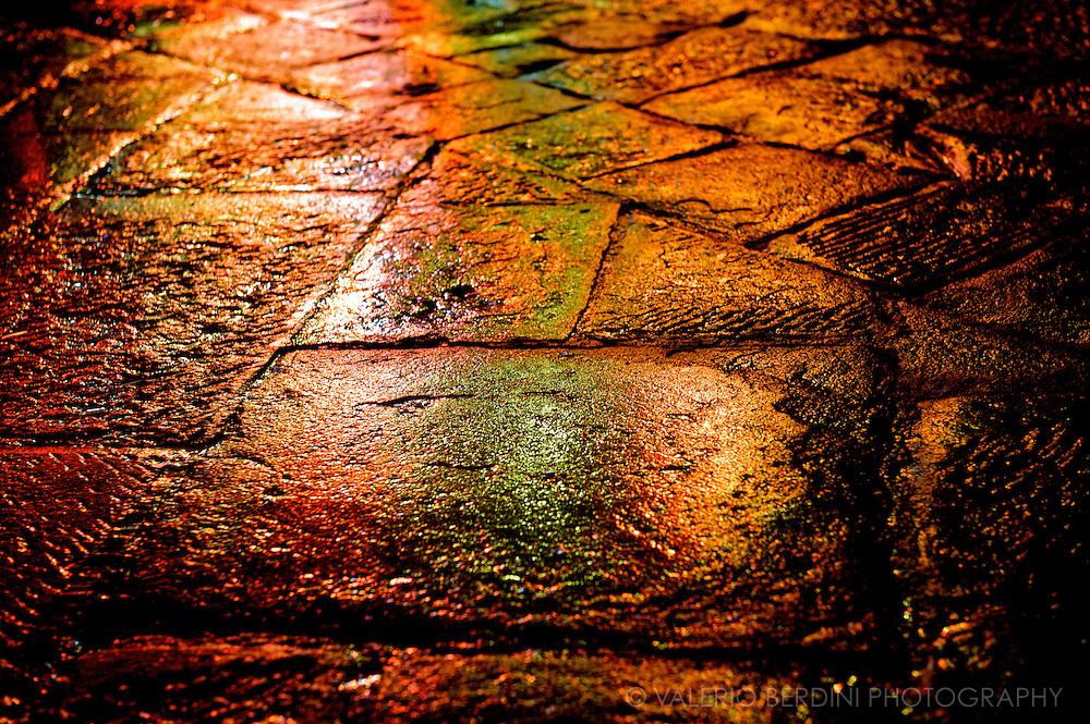 Siena, Tuscany. Italy.Il Campo..Stone Floor