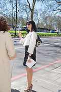 Leaving The Seventh Annual Foreign Sisters Lunch in aid of Cancer Research UK. . The Dorchester 53 Park Lane. London. 1 May 2013.
