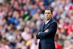 Manager Gustavo Poyet of Sunderland looks frustrated - Photo mandatory by-line: Rogan Thomson/JMP - 07966 386802 - 27/08/2014 - SPORT - FOOTBALL - Sunderland, England - Stadium of Light - Sunderland v Swansea City - Barclays Premier League.