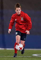 SAINT PETERSBURG, RUSSIA - Sunday, October 22, 2017: Wales' Angharad James during a training session at the Petrovsky Minor Sport Arena ahead of the FIFA Women's World Cup 2019 Qualifying Group 1 match between Russia and Wales. (Pic by David Rawcliffe/Propaganda)