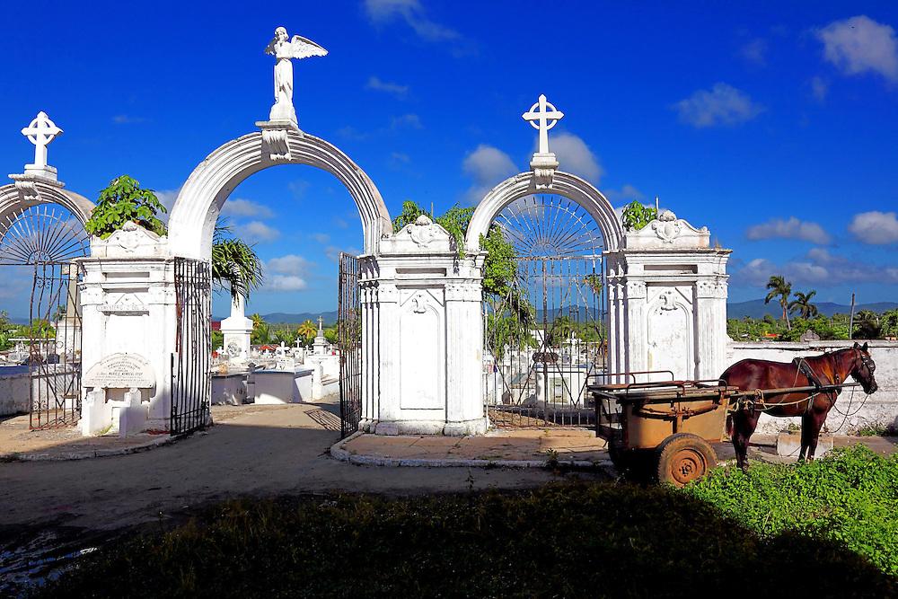 Cemetery in Consolacion del Sur, Pinar del Rio Province, Cuba.