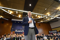 One day after winning his home state, Ohio Governor and Republican presidential candidate JOHN KASICH holds a town hall meeting at Villanova University in the suburbs of Philadelphia, PA., USA.