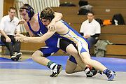 Madison's Jeff Foster wrestles Western Albemarle's Myciah Fitzwater in earlier season action.  Jeff pinned Myciah in 1:40 to take the match in the 145 lb class.., MCHS Wrestling.7th Annual Mountaineer Classic .vs Western Albemarle .1/2/10