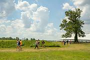 NASDA Farm Tour of the University of Kentucky hemp fields