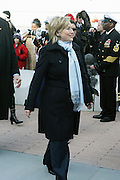 U.S. Secretary of State Hillary Clinton at the officilal commissioning for The USS New York, whose bow is designed with 7.5 tons of steel from the World Trade Center. It is a San Antonio class amphibious transport dock ship, Ceremony was held at Pier 86 on Novemeber 7, 2009 in New York City