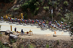 The leaders head onto the first climb of the day at Amgen Tour of California Women's Race empowered with SRAM 2019 - Stage 2, a 74 km road race from Ontario to Mount Baldy, United States on May 17, 2019. Photo by Sean Robinson/velofocus.com