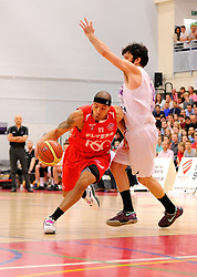 Bristol Flyers' Greg Streete drives forward  - Photo mandatory by-line: Joe Meredith/JMP - Mobile: 07966 386802 - 18/04/2015 - SPORT - Basketball - Bristol - SGS Wise Campus - Bristol Flyers v Leeds Force - British Basketball League