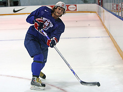Gregor Poloncic at practice of Slovenian national team at Hockey IIHF WC 2008 in Halifax,  on May 01, 2008 in Forum Centre, Halifax, Canada.  (Photo by Vid Ponikvar / Sportal Images)