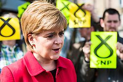 Nicola Sturgeon joins the SNP's candidate for East Lothian George Kerevan on the campaign trail in Musselburgh tomorrow. <br /> <br /> The First Minister commented that a vote for the SNP is vital to ensure that Scotland's jobs and industries are protected. An SNP victory in the General Election will give the party a mandate to demand that the Scottish Government is at the top table in Brexit negotiations, standing up for the interests of businesses and for workers rights.<br /> <br /> Pictured: Nicola Sturgeon