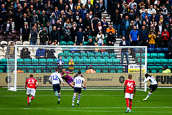 Dan Bentley of Bristol City dives the wrong way as Daniel Johnson of Preston North End scores a penalty to make it 2-2 - Rogan/JMP - 28/09/2019 - Deepdale Stadium - Preston, England - Preston North End v Bristol City - Sky Bet Championship.