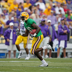 18 April 2009: LSU wide receiver Terrance Toliver (80) runs after a catch during the 2009 LSU spring football game at Tiger Stadium in Baton Rouge, LA.