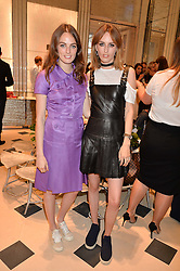 Left to right, sisters LADY VIOLET MANNERS and LADY ALICE MANNERS at a cocktail party to mark the opening of the House of Dior, the United Kingdom's largest and premier Dior boutique at 160-162 New Bond street, London on 8th June 2016.