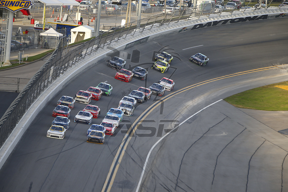 February 25, 2017 - Daytona Beach, Florida, USA: The NASCAR Xfinity Series teams take to the track for the PowerShares QQQ 300 at Daytona International Speedway in Daytona Beach, Florida.