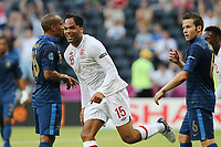 FOOTBALL - UEFA EURO 2012 - DONETSK - UKRAINE - GROUP STAGE - GROUP D - FRANCE v ENGLAND - 11/06/2012 - PHOTO PHILIPPE LAURENSON / DPPI - JOLEON LESCOTT (ANG) JOY AFTER HIS GOAL