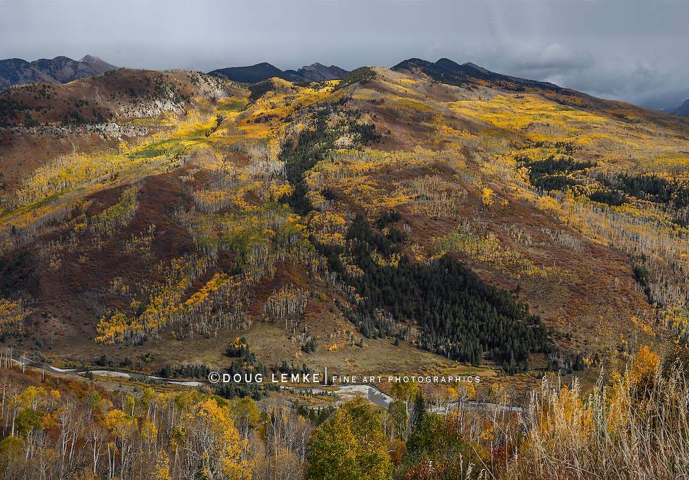 Autumn in the Rocky Mountains of Gunnison County Colorado; USA