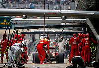 07 RAIKKONEN Kimi (Fin) Ferrari F14T action pit stop  during the 2014 Formula One World Championship, Grand Prix of China on April 20, 2014 in Shanghaï, China. Photo Frédéric Le Floc'h / DPPI