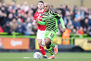 Forest Green Rovers Robert Hall(15), on loan from Oxford United runs forward during the EFL Sky Bet League 2 match between Forest Green Rovers and Walsall at the New Lawn, Forest Green, United Kingdom on 8 February 2020.