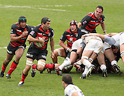 Jean Bouilhou attacks for Toulouse. Stade Toulousain v Brive, 24eme Journee, Top 14. Stade Ernest Wallon, Toulouse, France, 21 Avril 2012.
