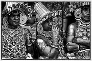 A3<br /> Dancers have a break at the Kandy Perahera.