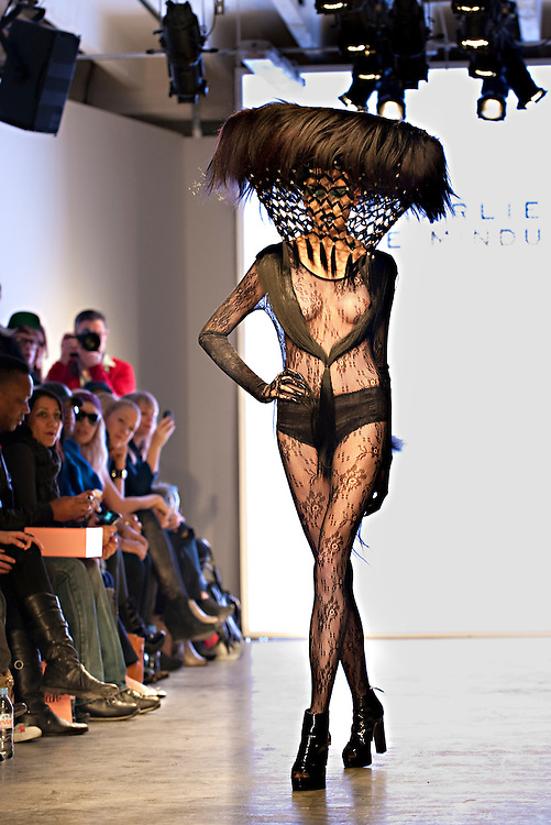 The Charlie Le Mindu hair show at London Fashion Week pulled out all the stops to shock and delight the jam-packed audience of hipsters at Victoria House, Bloomsbury Place, London WC1B 4DA