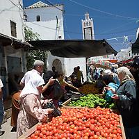 Greengrocer's stall in the souk, Tetouan medina, Morocco