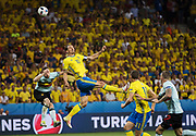 NICE, FRANCE, 2016-06-22<br /> FOTBOLL, EM, LANDSLAG<br /> Zlatan Ibrahimovic under matchen mellan Sverige och Belgien p&aring; Stade de Nice i Nice, den 22 juni 2016.