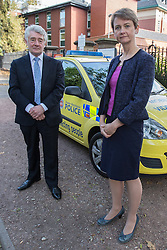 © Licensed to London News Pictures . FILE PICTURE DATED 21/09/2014 . Manchester , UK . Shadow Home Secretary YVETTE COOPER in Manchester with Greater Manchester's Police and Crime Commissioner Tony Lloyd . Yvette Cooper has announced she would scrap PCCs if Labour win power in 2015 Sunday 21st September 2014) . Photo credit : Joel Goodman/LNP