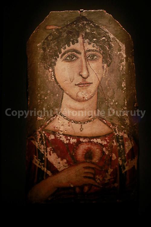 Mummy Portrait , Fayoum, Egypt, Roman time, Kunsthistorisches Museum, Vienna, Austria // Portrait du Fayoum, Egype romaine, Kunsthistorisches Museum, Vienne, Autriche
