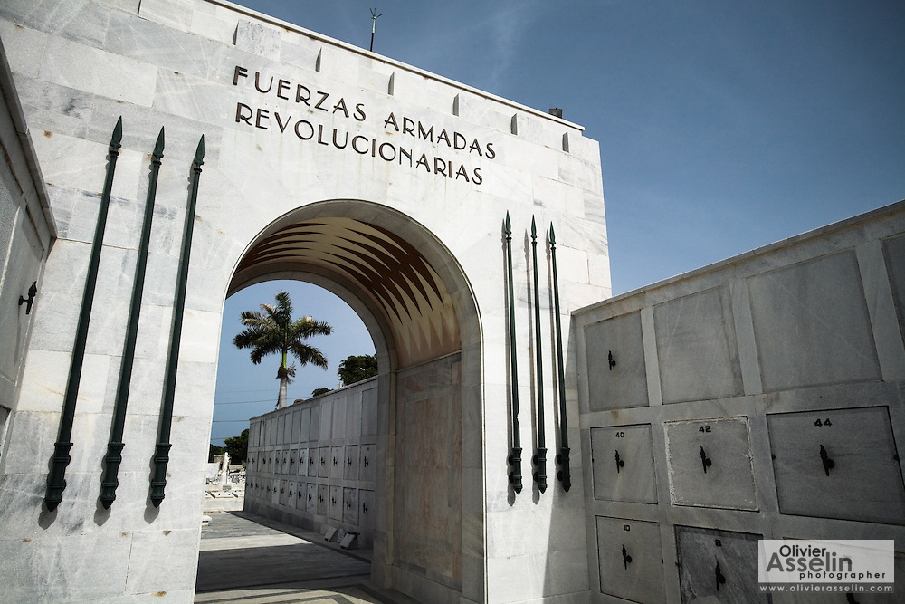 Monument holding the remains of members of the revolutionary armed forces at the Necropolis Cristobal Colon cemetery in Havana, Cuba on Saturday June 28, 2008.