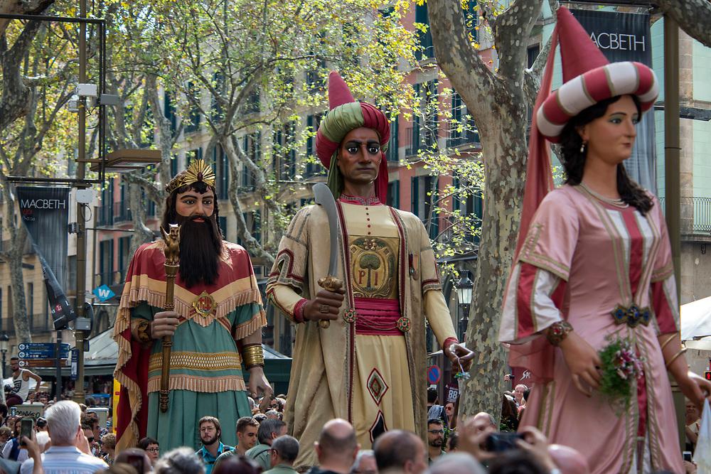 Festival of La Mercè, Barrio Gotico of Barcelona