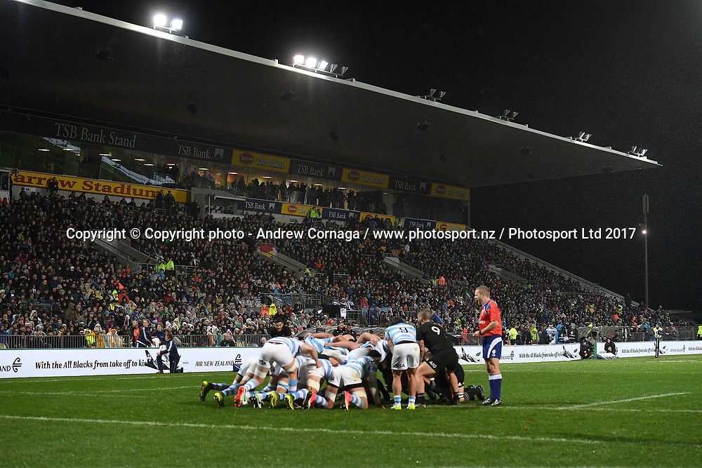 General view.<br /> Rugby Championship test match rugby union. New Zealand All Blacks v Argentina Los Pumas, Yarrow Stadium, New Plymouth. New Zealand. Saturday 9 September 2017. &copy; Copyright photo: Andrew Cornaga / www.Photosport.nz