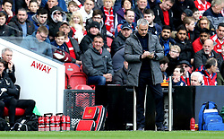 Manchester United manager Jose Mourinho takes down notes - Mandatory by-line: Robbie Stephenson/JMP - 19/03/2017 - FOOTBALL - Riverside Stadium - Middlesbrough, England - Middlesbrough v Manchester United - Premier League