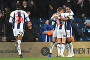 West Bromwich Albion midfielder Matt Phillips (10) scores a goal 2-0 and celebrates during the EFL Sky Bet Championship match between West Bromwich Albion and Leeds United at The Hawthorns, West Bromwich, England on 10 November 2018.