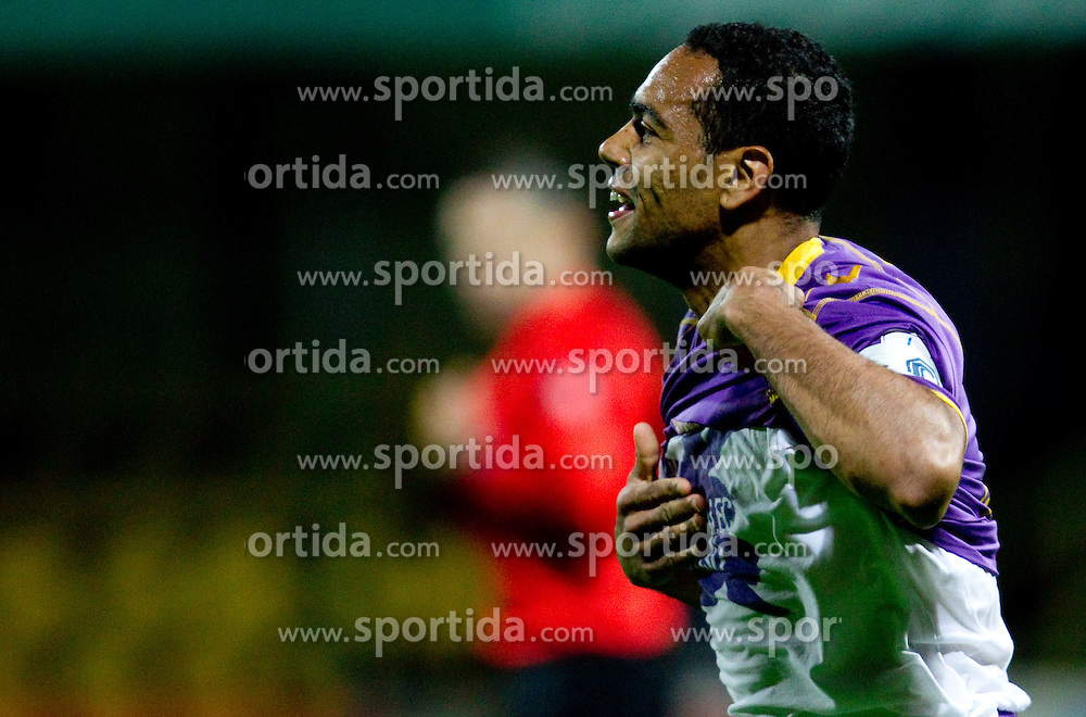 Marcos Tavares celebrates during football match between NK Domzale and NK Maribor in 27th Round of Slovenian 1st League PrvaLiga, on April 9, 2011 in Sports park Domzale, Slovenia.  (Photo By Vid Ponikvar / Sportida.com)