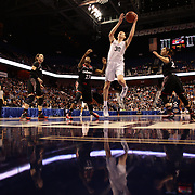 Breanna Stewart, UConn, shoots a rebound during the UConn Vs Cincinnati Quarterfinal Basketball game at the American Women's College Basketball Championships 2015 at Mohegan Sun Arena, Uncasville, Connecticut, USA. 7th March 2015. Photo Tim Clayton