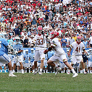 North Carolina Attackman CHRIS CLOUTIER (45), left, scores the game winning goal in overtime of The NCAA Division I NATIONAL CHAMPIONSHIP GAME between North Carolina and Maryland, Monday, May. 30, 2016 at Lincoln Financial Field in Philadelphia, Pa