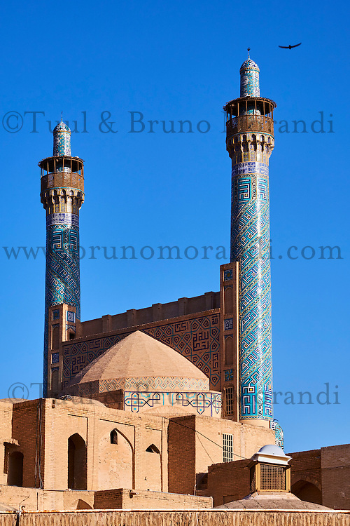 Iran, province d'Ispahan, Ispahan, Place de l'Imam, classée Patrimoine Mondial de l'UNESCO, Jameh Mosque ou la mosquée du vendredi,  // Iran, Isfahan, Imam Square, Jameh Mosque or Friday mosque, world heritage of the UNESCO