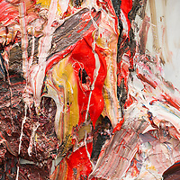 Artwork 'Self-Portrait with Red' by Antony Micallef is on display at Pearl Lam Galleries booth at Art Basel Hong Kong 2016 on March 23, 2016 in Hong Kong, China. Photo by Lucas Schifres / studioEAST