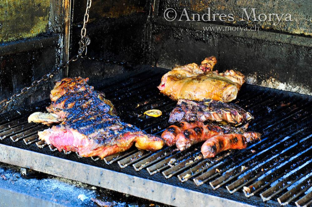Parrillada Detail at Caminito , La Boca , Buenos Aires , Argentina Image by Andres Morya