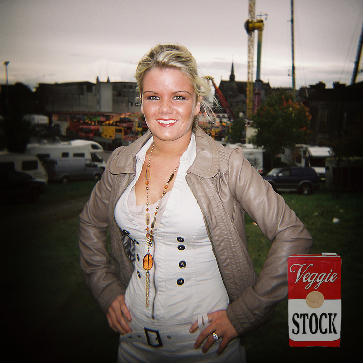 Traveler Girl, Ballinasloe Horse Fair, Co. Galway, Ireland, October 2010.