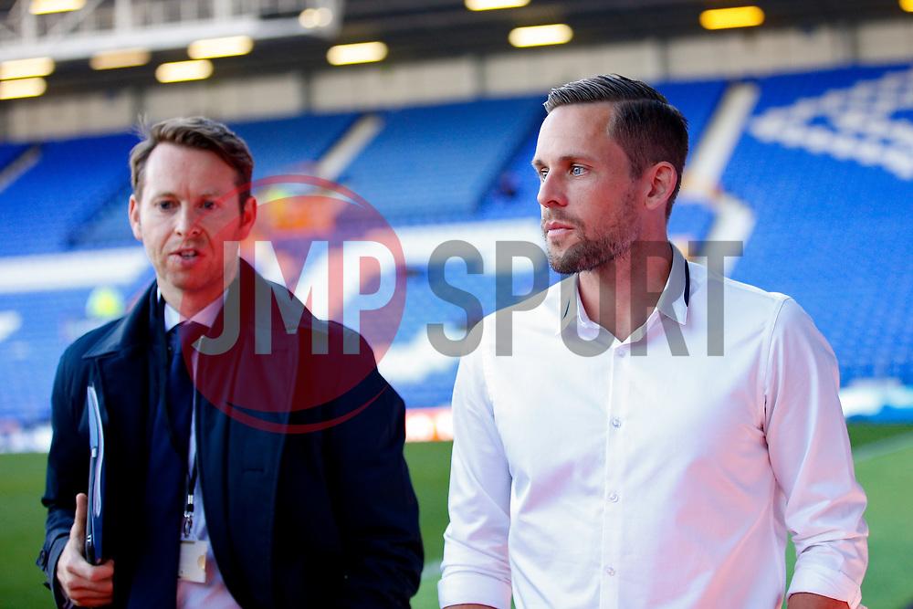 Everton's new signing Gylfi Sigurdsson arrives at Goodison Park  - Mandatory by-line: Matt McNulty/JMP - 17/08/2017 - FOOTBALL - Goodison Park - Liverpool, England - Everton v Hajduk Split - UEFA Europa League First Playoff Round - First Leg