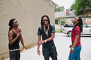 Two-thirds of the rap trio Migos at 1479 Studios in Atlanta, Georgia June 18, 2013.