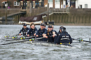 Putney, London, Pre Boat Race Fixture, <br /> Oxford University Women's Boat Club {OUWBC} vs Molesey Boat Club, over the River Thames, Championship Course Putney to Mortlake Sunday 28/02/2016.  [Mandatory Credit; Patrick White/Intersport-images]<br /> <br /> Oxford on Surrey, Crew Cox &ndash; Morgan Baynham-Williams, Stroke &ndash; Lauren Kedar, 7 &ndash; Maddy Badcott, 6 &ndash; Anastasia Chitty, 5 &ndash; Elo Luik, 4 &ndash; Ruth Siddorn, 3 &ndash; Joanneke Jansen, 2 &ndash; Emma Spruce, Bow &ndash; Emma Lukasiewicz<br /> <br /> Molesey on Middlesex, Crew Cox &ndash; Henry Fieldman, Stroke &ndash; Helen Roberts, 7 &ndash; Gabby Rodriguez, 6 &ndash; Vickie Watts, 5 &ndash; Rebecca Edwards, 4 &ndash; Aimee Jonckers, 3 &ndash; Beccy Girling, 2- Georgie Grant, Bow &ndash; Lucy Primmer