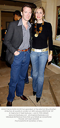 ASHLEY & ALLEGRA HICKS he is grandson of the late Earl Mountbatten of Burma, at a party in London on 30th January 2003.PGW 157