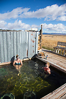 Alvord Hot Springs. Steens Mountains in Eastern Oregon.