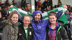 Supporting Castlebar Celtic at the Connaught Cup Final at Milebush were Evanna Winters, Lucy Ryan, Helen Lavelle and Ella Mongey.<br /> Pic Conor McKeown
