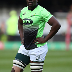 Oupa Mohoje of South Africa during the 2nd Castle Lager Incoming Series Test match between South Africa and France at Growthpoint Kings Park on June 17, 2017 in Durban, South Africa. (Photo by Steve Haag Sports)