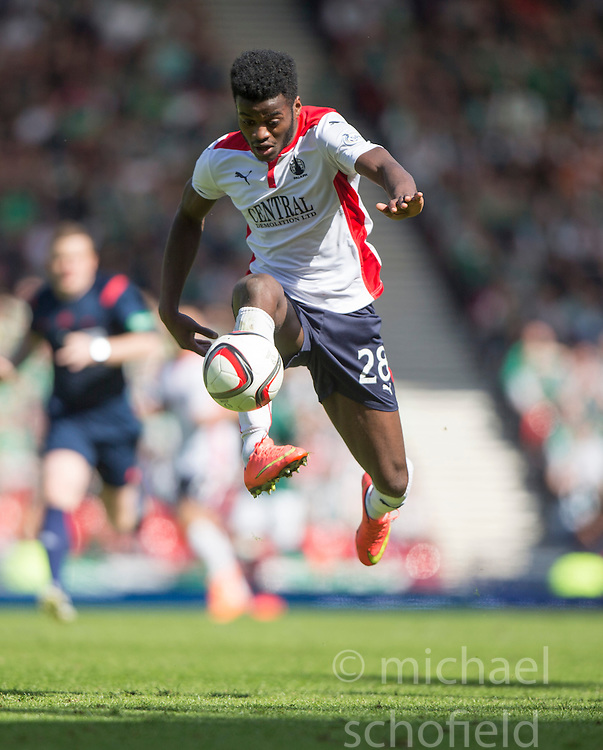 Falkirk's Botti Biabi. <br /> Hibernian 0 v 1 Falkirk, William Hill Scottish Cup semi-final, played 18/4/2015 at Hamden Park, Glasgow.