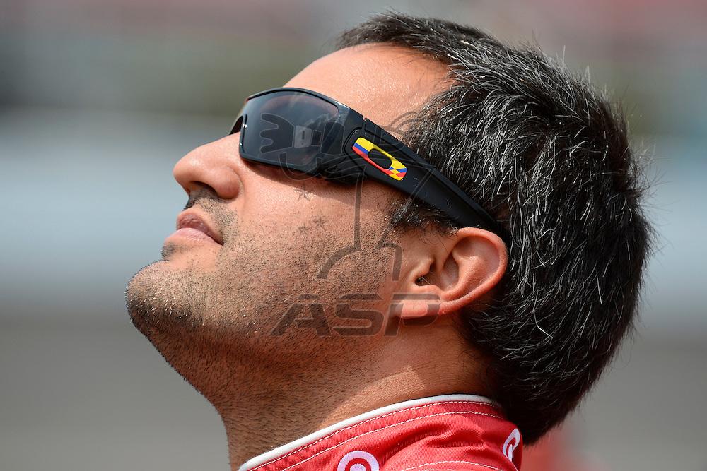Brooklyn, MI - JUN 16, 2012: Juan Pablo Montoya (42)  during qualifying for the Quicken Loans 400 race at the Michigan International Speedway in Brooklyn, MI.